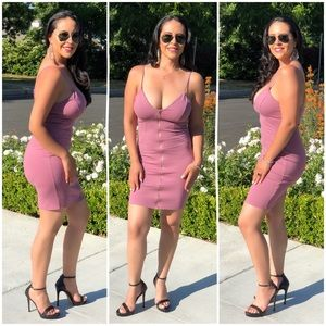 Brand New Nice Mini Dress (Mauve)      E1